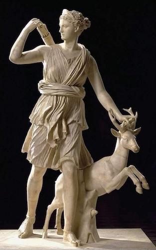 Annabel Du Boulay Artemis Virgin Warrior Goddess