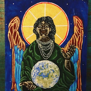 Annabel Du Boulay Painting Sophia Black Goddess of Wisdom