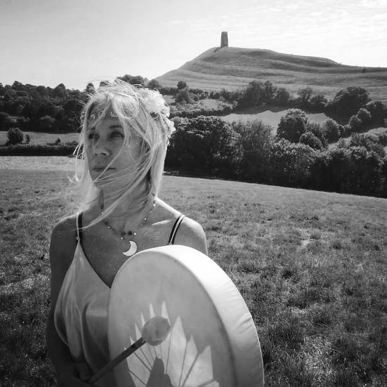 Annabel Du Boulay Glastonbury Tor Drumming