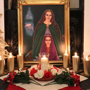 Annabel Du Boulay Glastonbury Gnostic Chapel Altar