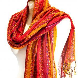 Indian Scarf Red-Orange-Yellow