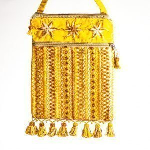 Bedouin Beaded Bag Yellow