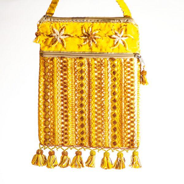 Bedouin Beaded Bag Yellow