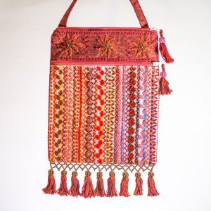 Bedouin Beaded Bag Red