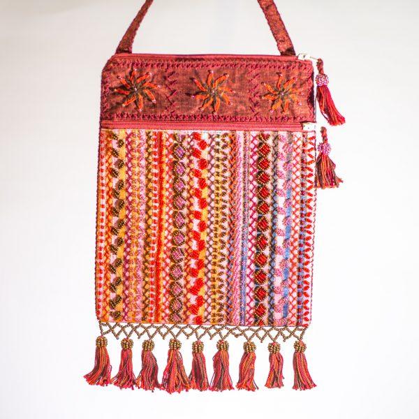 Bedouin Beaded Bag Red