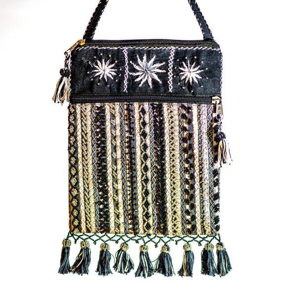 Bedouin Beaded Bag Black