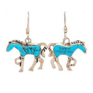 Annabel Du Boulay Shop Zuni Horse Earrings