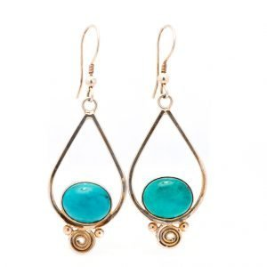 Annabel Du Boulay Shop Turquoise Silver Earrings