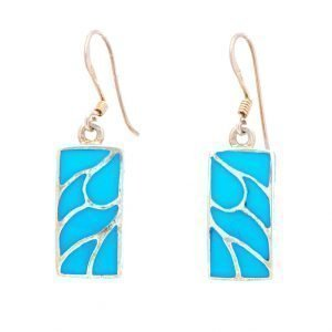 Annabel Du Boulay Shop Silver Turquoise Earrings
