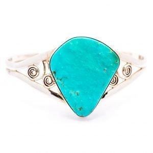 Annabel Du Boulay Turquoise Silver Bracelet