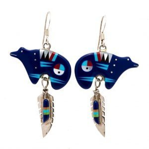 Annabel Du Boulay Shop Zuni Bear Earrings