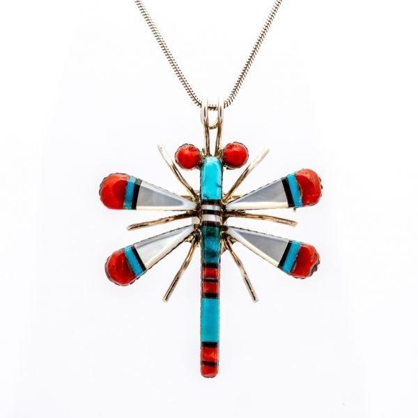 Annabel Du Boulay Shop Zuni Dragonfly Pendant
