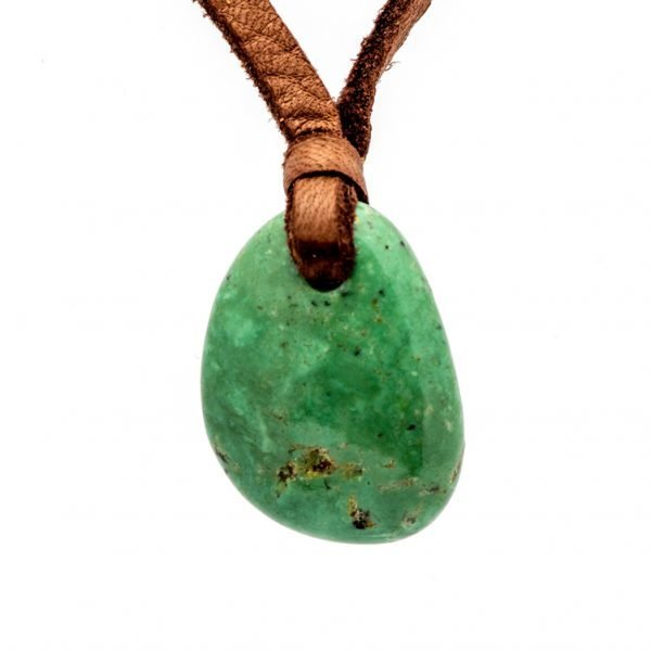 Annabel Du Boulay Shop Turquoise Deerskin Pendants