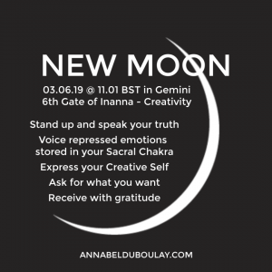 Annabel Du Boulay Blog New Moon 03.06.19