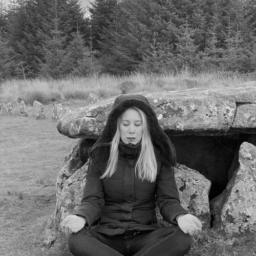 Annabel Du Boulay sitting for the Samhain Ceremony