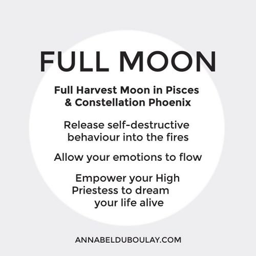 Full Harvest Moon Pisces - Annabel Du Boulay