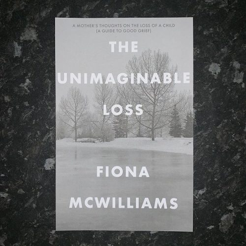 Book cover with text The Unimaginable Loss Fiona McWilliams
