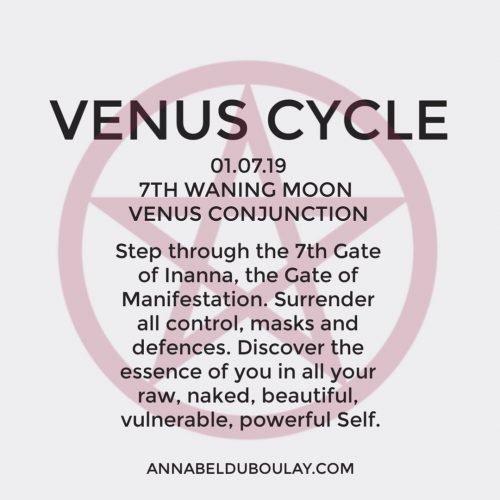 Venus Cycle 01.07.19 Annabel Du Boulay