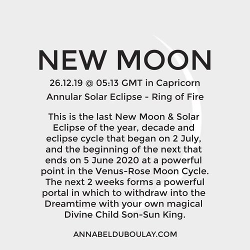 New Moon 26.12.19 - Annabel Du Boulay