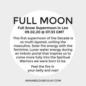 Full Moon 09.02.20 Annabel du Boulay