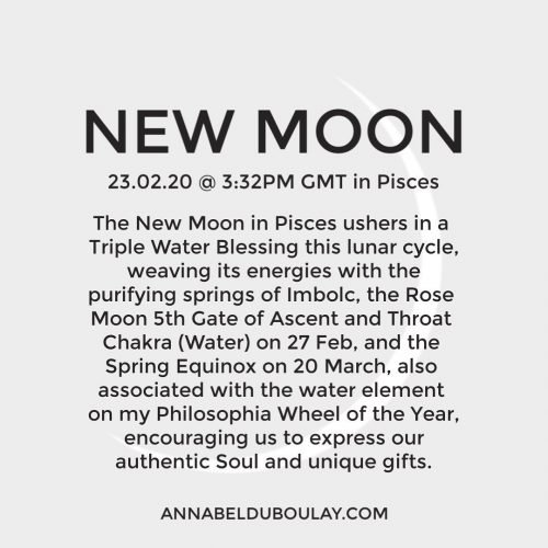 New Moon 23.02.20- Annabel Du Boulay