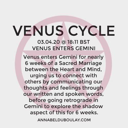 Venus Cycle 03.04.20 Annabel Du Boulay