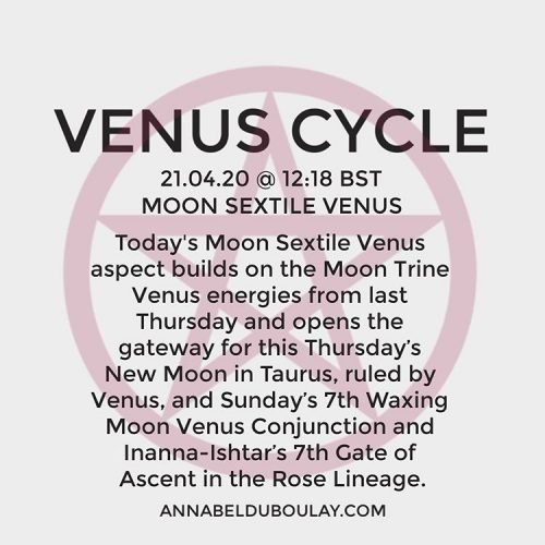 Venus Cycle 21.04.20 - Annabel Du Boulay