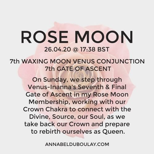 Rose Moon 26.04.20 - Annabel Du Boulay