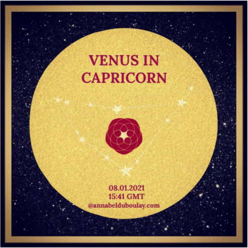 Annabel DuBoulay - venus in capricorn